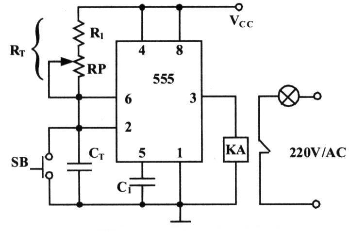 Photo Exposure Timing Circuit Composed of 555 Time-base Circuit